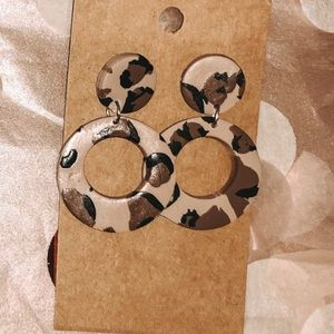 Hand made clay earrings